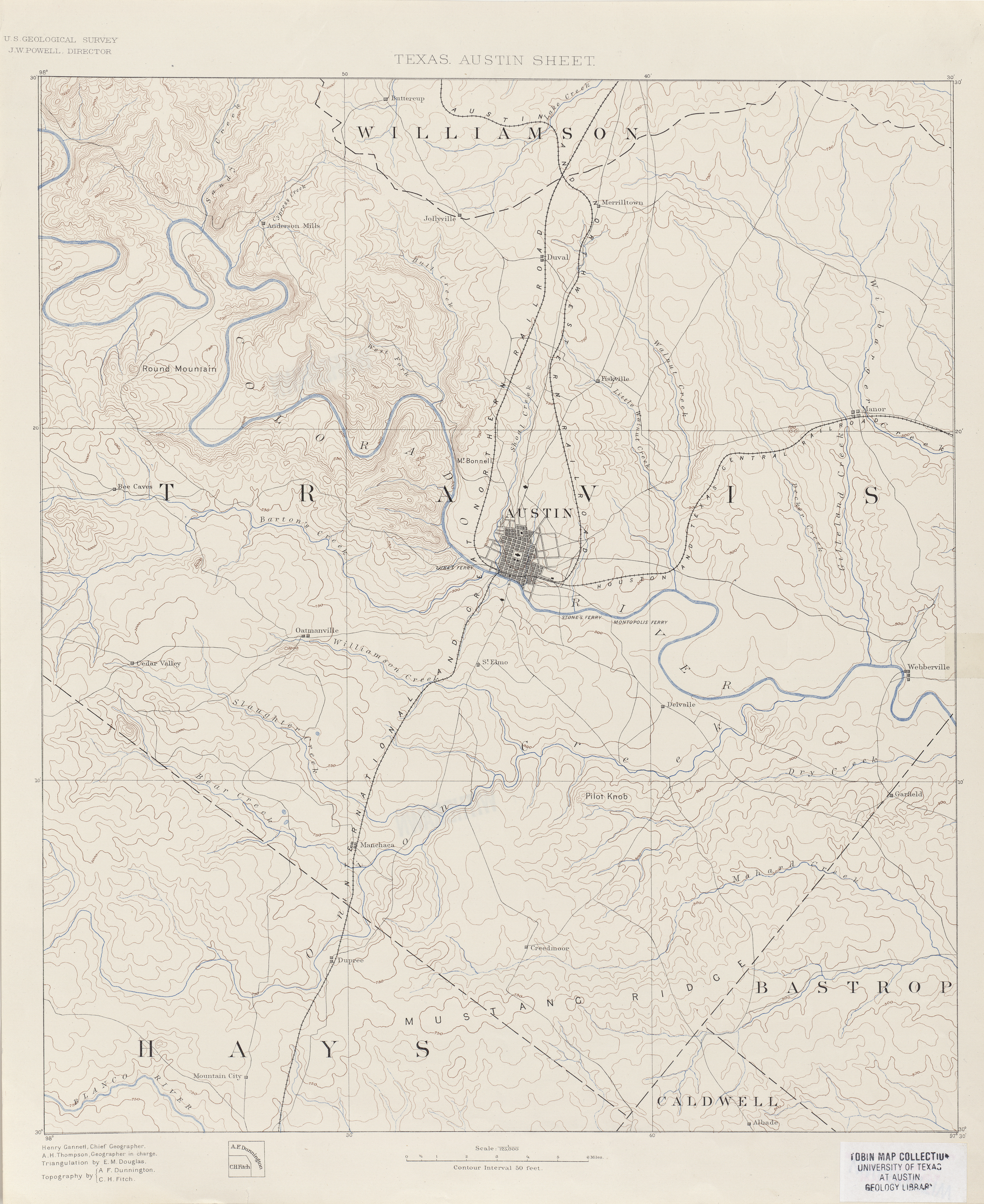 Historical Maps Of Austin Bryker Woods Neighborhood - Topographical map of texas