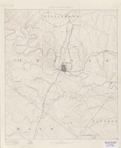 1894 USGS topographic map - Austin