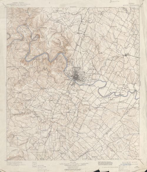 1910 USGS topographic map - Austin