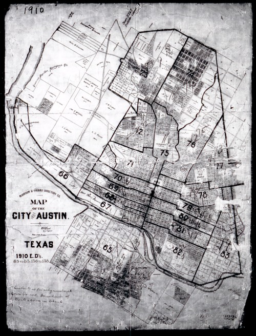 1910 City of Austin map