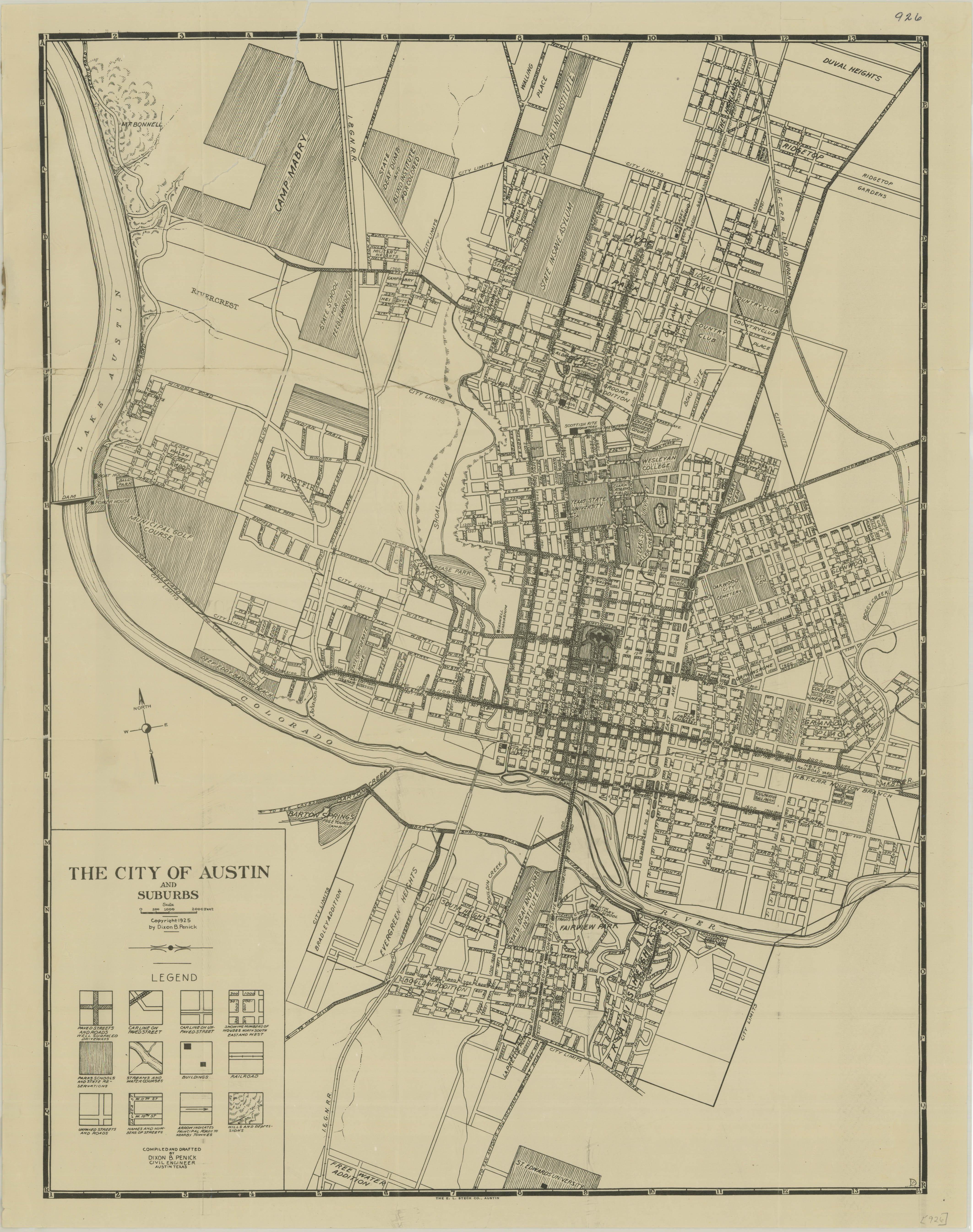 Historical Maps of Austin « Bryker Woods Neighborhood