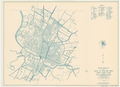 1936 Travis County Road map