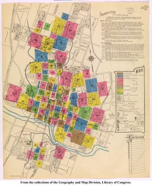 1921 Sanborn map - Austin
