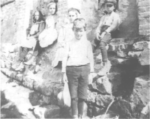 Children at the Bath House ruins
