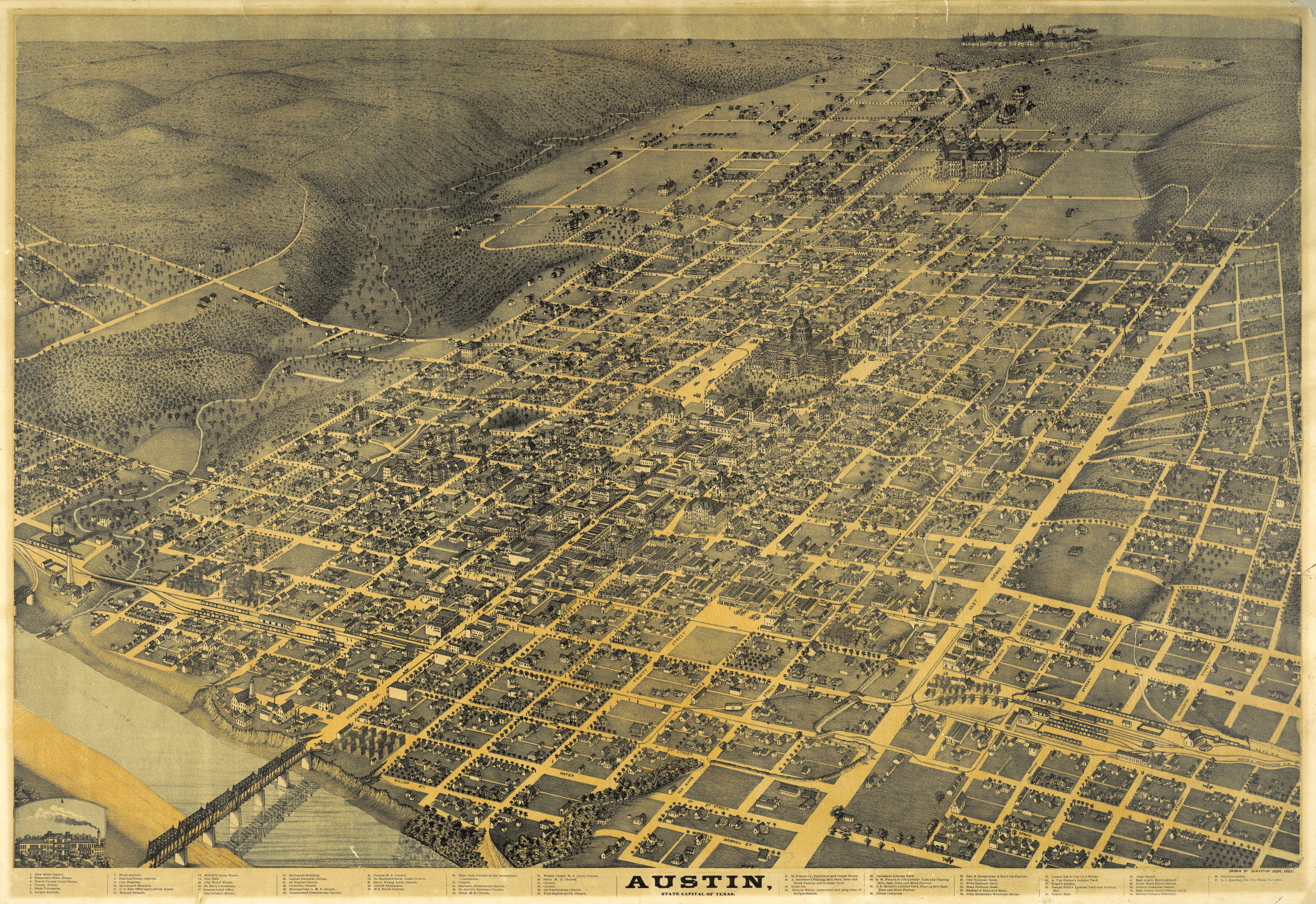 Historical Maps Of Austin Bryker Woods Neighborhood - Historical wall maps