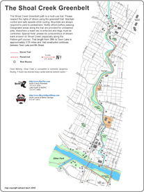 Shoal Creek Greenbellt Map