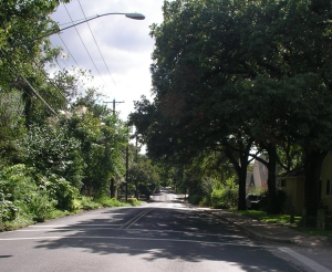 Same location on Jefferson Avenue looking north at 29th Street in 2007