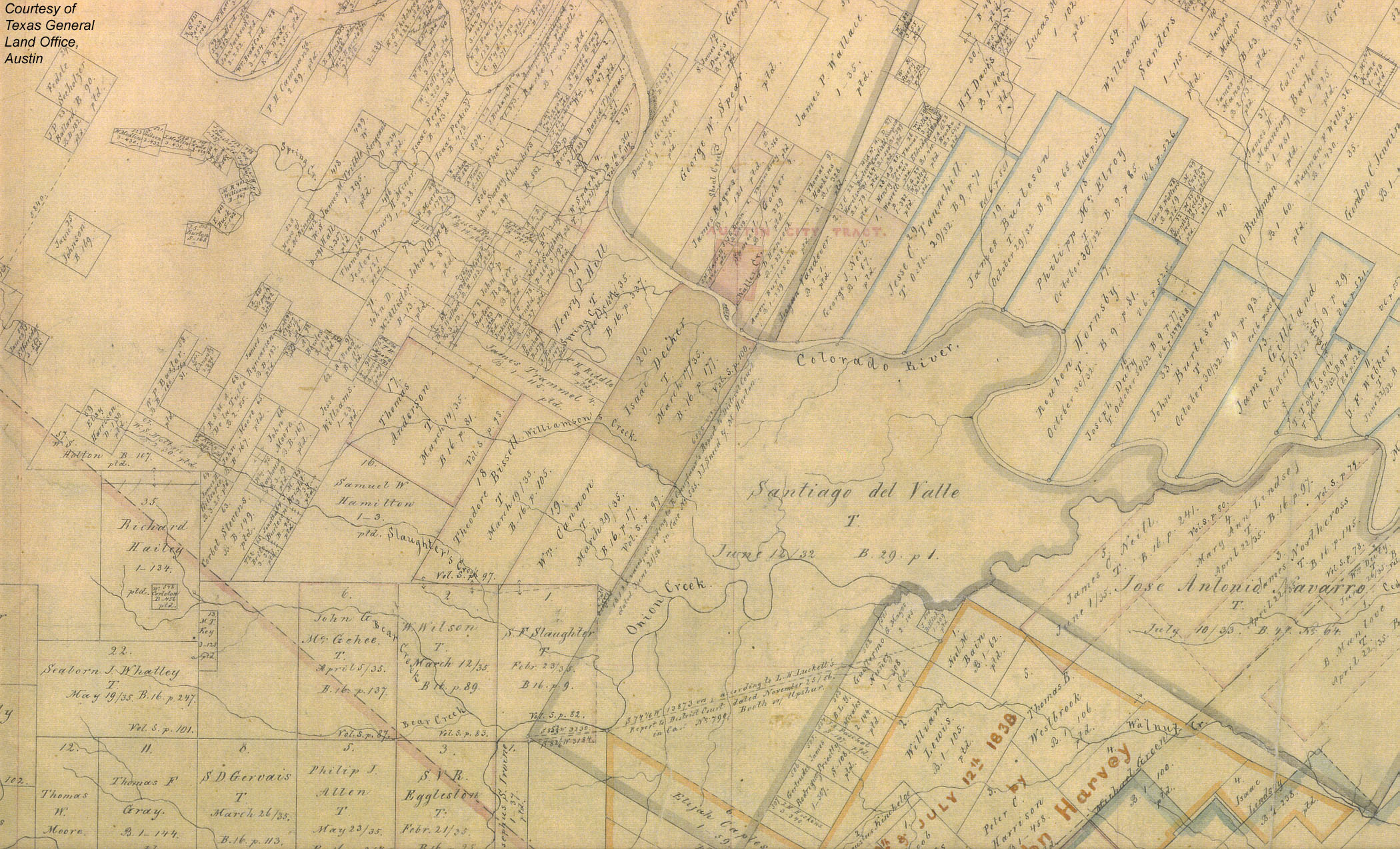 Historical Maps Of Austin Bryker Woods Neighborhood - Property line survey map