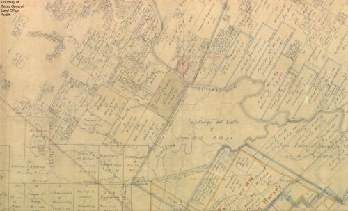 Travis County Original Survey Map
