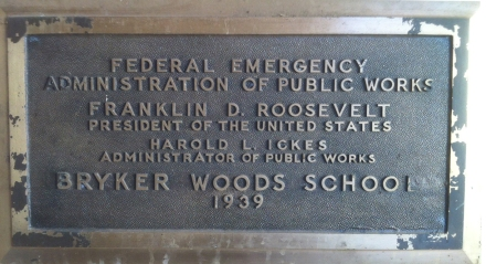 Bryker Woods Elementary Federal Emergency Relief Administration Marker