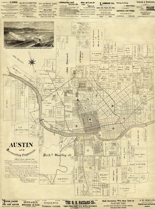 Austin and Surrounding Properties 1891