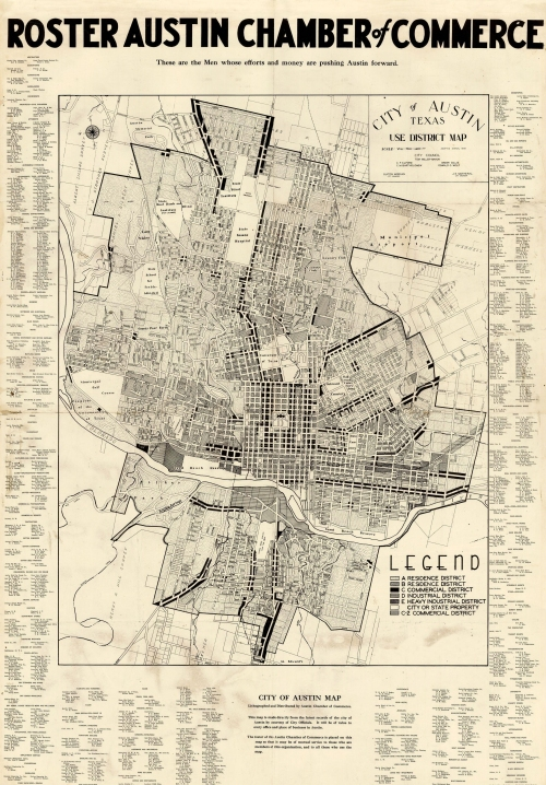 City of Austin Map 1939